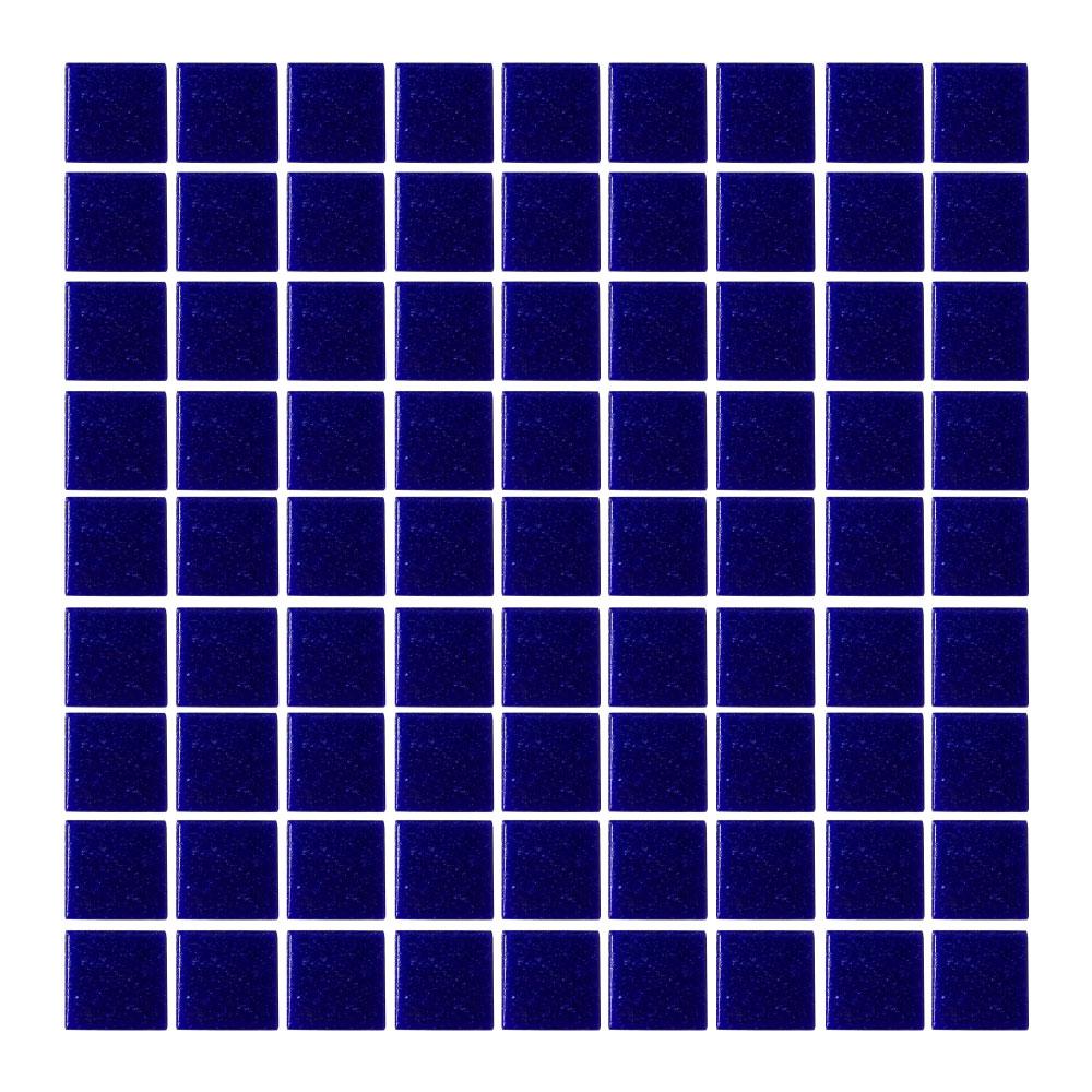 Azulejo Vetro Venezia Azul Cobalto Oscuro Mosaico 2 x 2 cm F063
