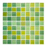 Azulejo Cristalo vítreo Mezcla de verdes