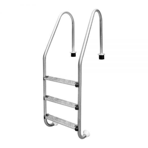 Escalera para Piscina 3 Peldaños Estandar Inter water escalones anatómico inoxidable 304