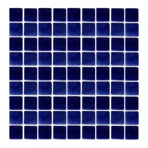 Azulejo Hispano Vitreo Azul Cobalto Niebla Mosaico 2.5 x 2.5 cm N1044
