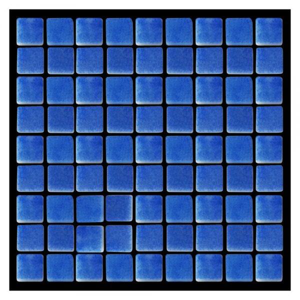 Azulejo Hispano Vitreo Azul Cielo Niebla Mosaico 2.5 x 2.5 cm N1207