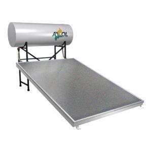 calentador solar residencial axol 150 prisma de cama plana con recipiente contenedor
