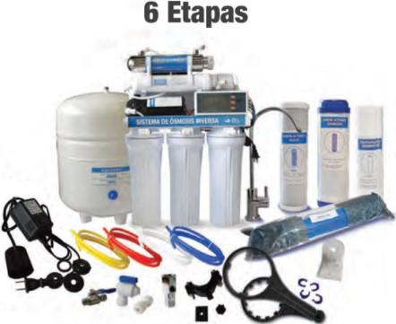 Osmosis Inversa 6 etapas 100 GPD Aquex