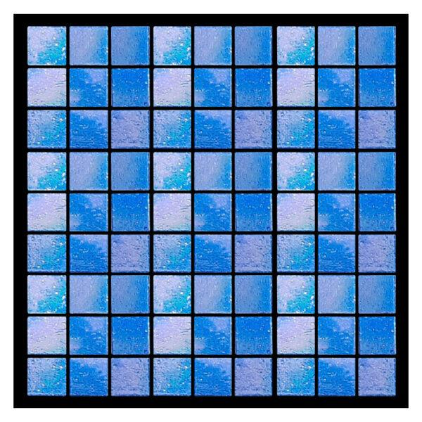 Azulejo para Piscina Vetro venezia Brillare Azul Cobalto C044 2x2cm