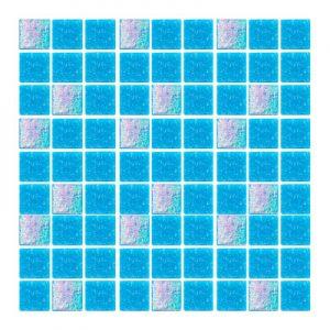 Azulejo para Piscina Stella Mezcla Azul Cancún 2x2cm