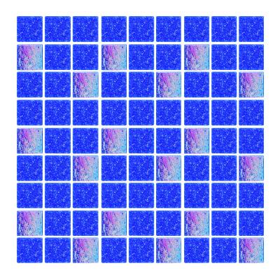 Azulejo para Piscina Stella Mezcla Azul Cobalto 2x2cm