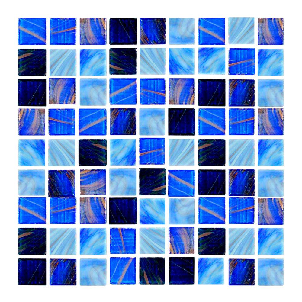 Azulejo para Piscina Veneta Mezcla de Azules 2x2cm