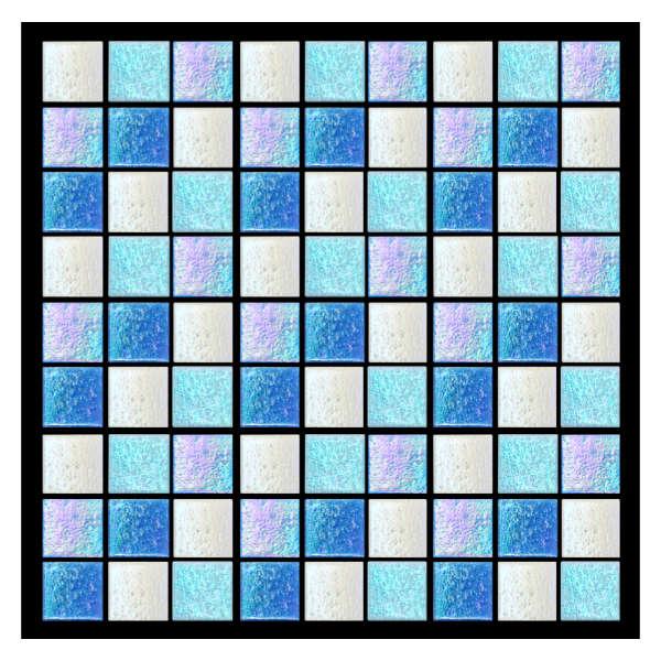 Azulejo para Piscina Vetro venezia Brillare Mezcla Malibú 2x2cm